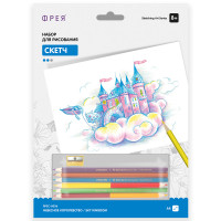 "ФРЕЯ RPSC-0036 ""ФРЕЯ"" RPSC-0036 ""Небесное королевство"" Скетч для раскраш. цветными карандашами 29.5 х 20.5 см 1 л. ."