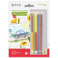 """ФРЕЯ RPSK-0020 """"ФРЕЯ"""" RPSK-0020 """"Легковая машина"""" Скетч для раскраш. цветными карандашами 21 х 14.8 см 1 л. ."""