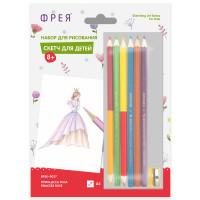 """ФРЕЯ RPSK-0027 """"ФРЕЯ"""" RPSK-0027 """"Принцесса Роза"""" Скетч для раскраш. цветными карандашами 21 х 14.8 см 1 л. ."""