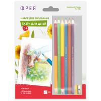 "ФРЕЯ RPSK-0028 ""ФРЕЯ"" RPSK-0028 ""В ромашках"" Скетч для раскраш. цветными карандашами 21 х 14.8 см 1 л. ."