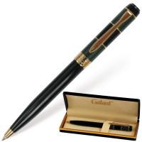"""GALANT 140393 Ручка подарочная шариковая GALANT """"Granit Green"""", корпус черный с темно-зеленым, золотистые детали, пишущий узел 0,7 мм, синяя, 140393"""