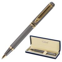 """GALANT 140397 Ручка подарочная шариковая GALANT """"Dark Chrome"""", корпус матовый хром, золотистые детали, пишущий узел 0,7 мм, синяя, 140397"""