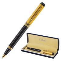 """GALANT 140400 Ручка подарочная шариковая GALANT """"Classic"""", корпус черный с золотистым, золотистые детали, пишущий узел 0,7 мм, синяя, 140400"""