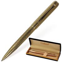 """GALANT 140466 Ручка подарочная шариковая GALANT """"Graven Gold"""", корпус золотистый с гравировкой, золотистые детали, пишущий узел 0,7 мм, синяя, 140466"""