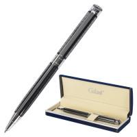 """GALANT 140614 Ручка подарочная шариковая GALANT """"Olympic Chrome"""", корпус хром с черным, хромированные детали, пишущий узел 0,7 мм, синяя, 140614"""