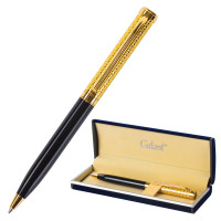 """GALANT 140960 Ручка подарочная шариковая GALANT """"Empire Gold"""", корпус черный с золотистым, золотистые детали, пишущий узел 0,7 мм, синяя, 140960"""