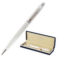 """GALANT 140962 Ручка подарочная шариковая GALANT """"Royal Platinum"""", корпус серебристый, хромированные детали, пишущий узел 0,7 мм, синяя, 140962"""