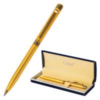 """GALANT 141008 Ручка подарочная шариковая GALANT """"Ingrid"""", тонкий корпус, золотистый, золотистые детали, пишущий узел 0,7 мм, синяя, 141008"""