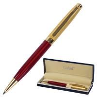 """GALANT 141010 Ручка подарочная шариковая GALANT """"Bremen"""", корпус бордовый с золотистым, золотистые детали, пишущий узел 0,7 мм, синяя, 141010"""