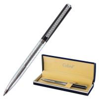 """GALANT 141013 Ручка подарочная шариковая GALANT """"Landsberg"""", корпус серебристый с черным, хромированные детали, пишущий узел 0,7 мм, синяя, 141013"""
