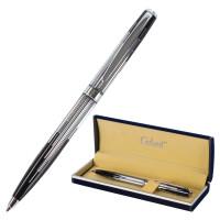 """GALANT 141014 Ручка подарочная шариковая GALANT """"Offenbach"""", корпус серебристый с черным, хромированные детали, пишущий узел 0,7 мм, синяя, 141014"""