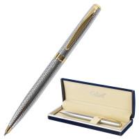 """GALANT 141015 Ручка подарочная шариковая GALANT """"Marburg"""", корпус серебристый с гравировкой, золотистые детали, пишущий узел 0,7 мм, синяя, 141015"""