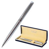 """GALANT 141016 Ручка подарочная шариковая GALANT """"Freiburg"""", корпус серебристый с гравировкой, хромированные детали, пишущий узел 0,7 мм, синяя, 141016"""