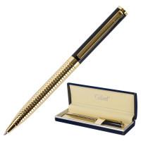 """GALANT 141356 Ручка подарочная шариковая GALANT """"Black Melbourne"""", корпус золотистый с черным, золотистые детали, пишущий узел 0,7 мм, синяя, 141356"""
