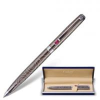 """GALANT 141361 Ручка подарочная шариковая GALANT """"Kawasaki"""", корпус серебристый с гравировкой, хромированные детали, пишущий узел 0,7 мм, синяя, 141361"""