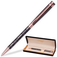 """GALANT 141664 Ручка подарочная шариковая GALANT """"Vitznau"""", корпус серый с золотистым, золотистые детали, пишущий узел 0,7 мм, синяя, 141664"""