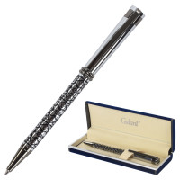 """GALANT 141667 Ручка подарочная шариковая GALANT """"Locarno"""", корпус серебристый с черным, хромированные детали, пишущий узел 0,7 мм, синяя, 141667"""