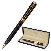 """GALANT 143501 Ручка подарочная шариковая GALANT """"TINTA MARBLE"""", корпус коричневый, золотистые детали, узел 0,7 мм, синяя, 143501"""