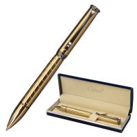 """GALANT 143502 Ручка подарочная шариковая GALANT """"MALBRETT"""", корпус золотистый, детали оружейный металл, узел 0,7 мм, синяя, 143502"""