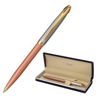 """GALANT 143505 Ручка подарочная шариковая GALANT """"DECORO ROSE"""", корпус хром/розовый, детали золотистые, узел 0,7 мм, синяя, 143505"""