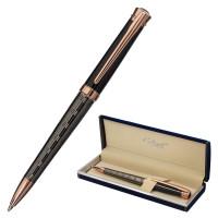 """GALANT 143507 Ручка подарочная шариковая GALANT """"COLLAGE"""", корпус черный/металлический, детали розовое золото, узел 0,7 мм, синяя, 143507"""