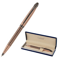 """GALANT 143510 Ручка подарочная шариковая GALANT """"DECORO"""", корпус розовое золото, детали оружейный металл, узел 0,7 мм, синяя, 143510"""