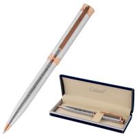 """GALANT 143511 Ручка подарочная шариковая GALANT """"ESQUISSE"""", корпус серебристый, детали розовое золото, узел 0,7 мм, синяя, 143511"""