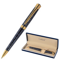 """GALANT 143512 Ручка подарочная шариковая GALANT """"TRAFORO"""", корпус синий, детали золотистые, узел 0,7 мм, синяя, 143512"""