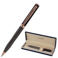 """GALANT 143513 Ручка подарочная шариковая GALANT """"FACTURA"""", корпус черный/оружейный металл, детали розовое золото, узел 0,7 мм, синяя, 143513"""