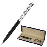 """GALANT 143518 Ручка подарочная шариковая GALANT """"ACTUS"""", корпус серебристый с черным, детали хром, узел 0,7 мм, синяя, 143518"""
