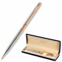 """GALANT 143520 Ручка подарочная шариковая GALANT """"NUANCE SILVER"""", корпус серебристый, детали розовое золото, узел 0,7 мм, синяя, 143520"""