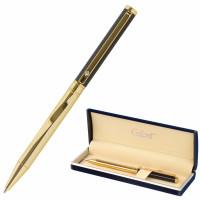 """GALANT 143522 Ручка подарочная шариковая GALANT """"ALLUSION"""", корпус черный/золотой, детали золотистые, узел 0,7 мм, синяя, 143522"""