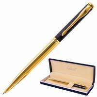 """GALANT 143523 Ручка подарочная шариковая GALANT """"ARROW GOLD"""", корпус черный/золотистый, детали золотистые, узел 0,7 мм, синяя, 143523"""