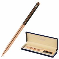 """GALANT 143525 Ручка подарочная шариковая GALANT """"ASTRON"""", корпус черный с золотом, детали золотистые, узел 0,7 мм, синяя, 143525"""