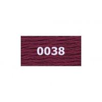 "Гамма 0001-0206 мулине ""Gamma"" (0001-0206) х/б 8 м (0038, вишневый)"