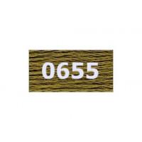 """Гамма 0207-0819 мулине """"Gamma"""" (0207-0819) х/б 8 м (0655, т.горчичный)"""