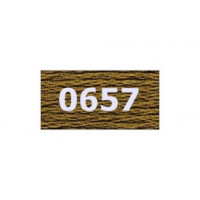 """Гамма 0207-0819 мулине """"Gamma"""" (0207-0819) х/б 8 м (0657, коричневый)"""