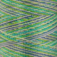 """Gamma  Нитки для вышивания """"Gamma"""" мультиколор M120/2 100% вискоза  400 я Set 1 холодные светлые"""