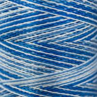 Gamma  Нитки для вышивания мультиколор M120/2 100% вискоза 5000 я Set 7 синие