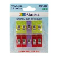 Gamma QC-02 Клипсы для фиксации QC-02 пластик металл 2.6 см 10 шт в блистере .