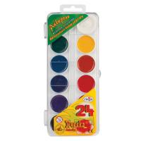 """Гамма 212035 Краски акварельные ГАММА """"Пчелка"""", 24 цвета, медовые, без кисти, пластиковая коробка, европодвес, 212035"""