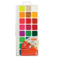 """Гамма 212084 Краски акварельные ГАММА """"Оранжевое солнце"""", 24 цвета, без кисти, пластиковая коробка, европодвес, 212084"""