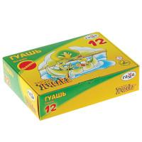 """Гамма 221014_12 Гуашь ГАММА """"Пчелка"""", 12 цветов по 20 мл, без кисти, картонная упаковка, 221014_12"""