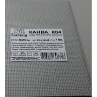 Гамма К04 Канва, 100% хлопок (св.серый)