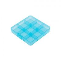 Гамма ОМ-086 Коробка  для шв. принадл. (голубой/прозрачный)
