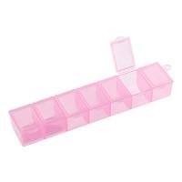 "Гамма  Контейнер ""Gamma""Т-35 пластик, 3х15 см, 7 секций (розовый\прозрачный)"
