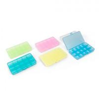 """Гамма  Коробка """"Gamma"""" ОМ-042 для шв. принадл. пластик 17,7х10,2х2,3 см (прозрачный)"""