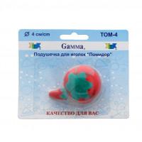 """Gamma  """"Gamma"""" Подушечка для игл """"Помидор"""" 4 см 4 см в блистере красный"""