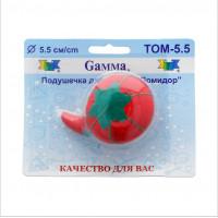"""Gamma  """"Gamma"""" Подушечка для игл """"Помидор"""" 5.5 см 5.5 см в блистере красный"""