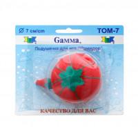 """Gamma  """"Gamma"""" Подушечка для игл """"Помидор"""" 7 см 7 см в блистере красный"""